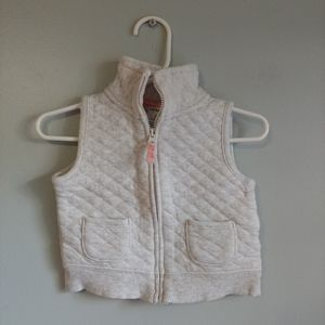 Carter's heathered grey quilted vest